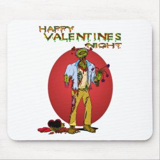 Tarjetas del día de San Valentín del zombi Alfombrilla De Raton