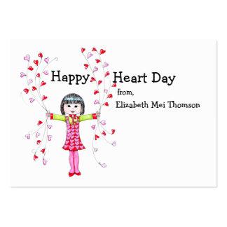 Tarjetas del día de San Valentín felices del día d Plantillas De Tarjeta De Negocio