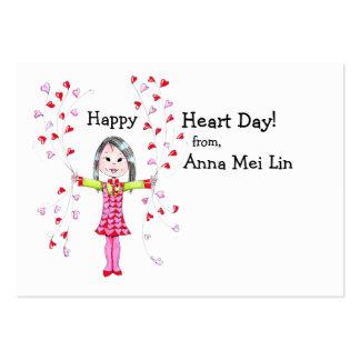 Tarjetas del día de San Valentín felices del día I Tarjetas De Visita