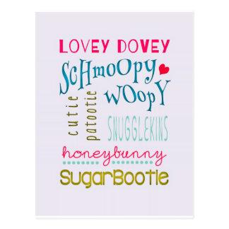Tarjetas del día de San Valentín fofas de Schmoopy Postal