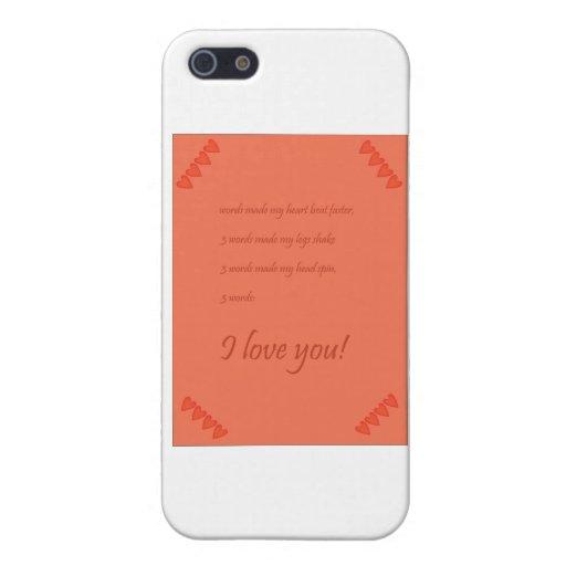 tarjetas del día de San Valentín iPhone 5 Coberturas