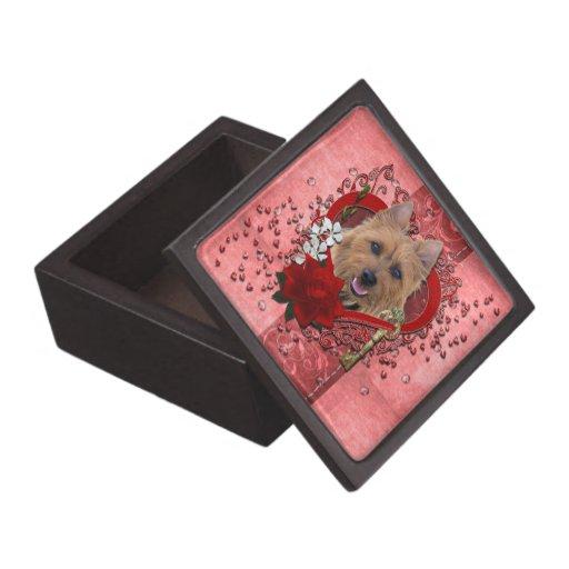 Tarjetas del día de San Valentín - llave a mi cora Caja De Recuerdo De Calidad