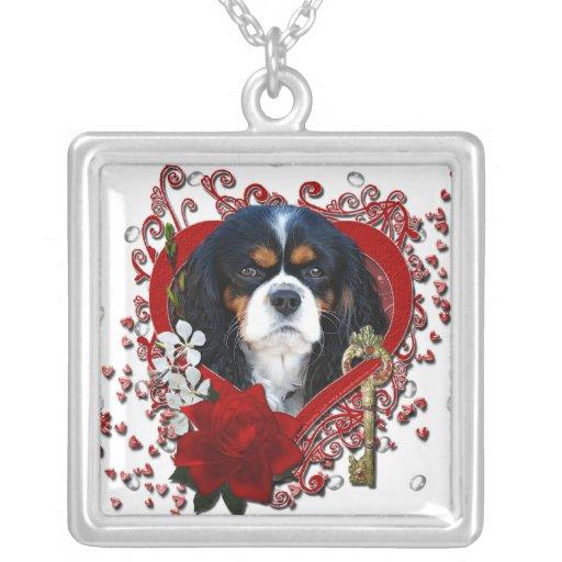 Tarjetas del día de San Valentín - llave a mi cora Pendiente Personalizado