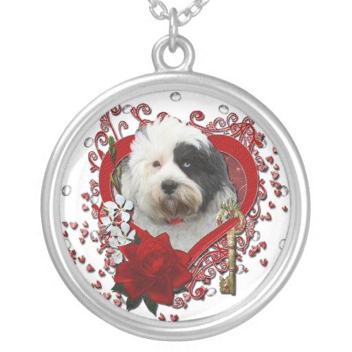 Tarjetas del día de San Valentín - llave a mi cora Collares Personalizados
