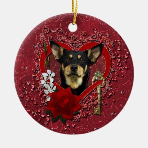 Tarjetas del día de San Valentín - llave a mi cora Ornamentos Para Reyes Magos