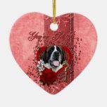 Tarjetas del día de San Valentín - llave a mi cora Ornamento De Navidad