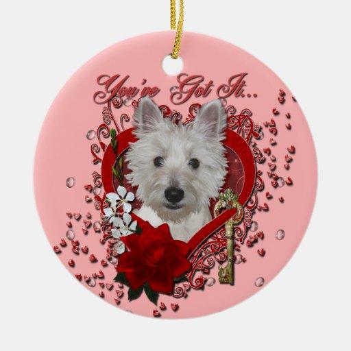 Tarjetas del día de San Valentín - llave a mi cora Ornamento De Reyes Magos