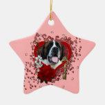 Tarjetas del día de San Valentín - llave a mi cora Adorno De Navidad