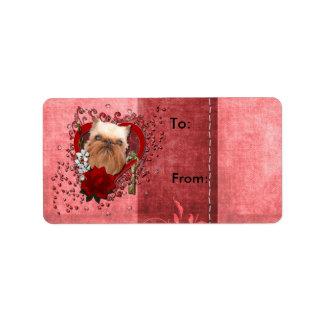 Tarjetas del día de San Valentín - llave a mi cora Etiquetas De Dirección