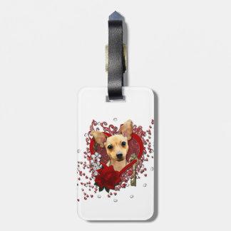 Tarjetas del día de San Valentín - llave a mi cora Etiquetas Para Maletas