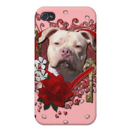Tarjetas del día de San Valentín - llave a mi cora iPhone 4 Carcasa