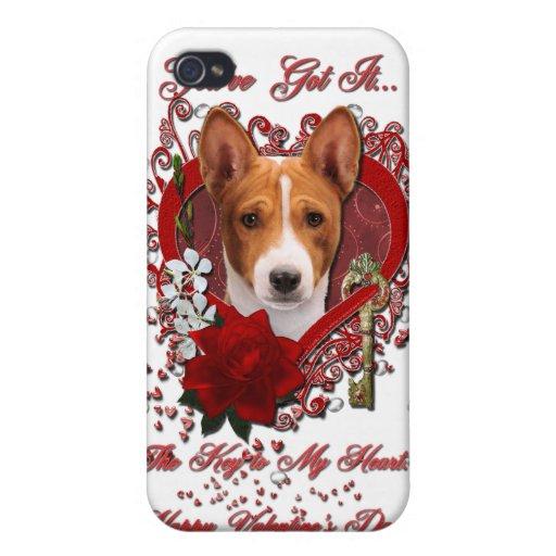 Tarjetas del día de San Valentín - llave a mi cora iPhone 4 Cárcasa
