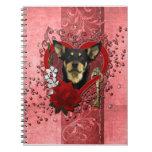 Tarjetas del día de San Valentín - llave a mi cora Libreta