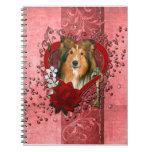 Tarjetas del día de San Valentín - llave a mi cora Libretas Espirales