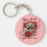 Tarjetas del día de San Valentín - llave a mi cora Llaveros Personalizados
