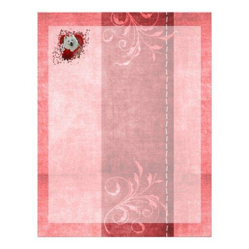 Tarjetas del día de San Valentín - llave a mi cora Membrete