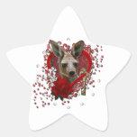 Tarjetas del día de San Valentín - llave a mi cora Calcomania Forma De Estrella Personalizadas