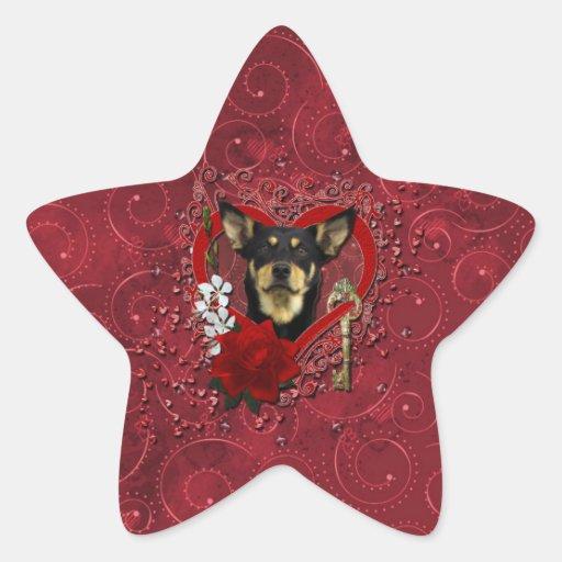Tarjetas del día de San Valentín - llave a mi cora Calcomanía Forma De Estrellae