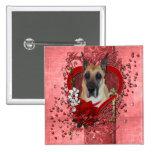 Tarjetas del día de San Valentín - llave a mi cora Pin