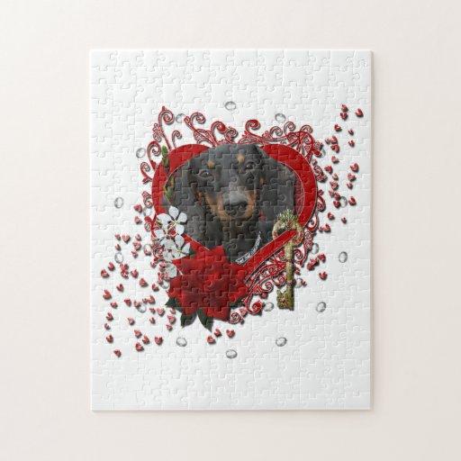 Tarjetas del día de San Valentín - llave a mi cora Puzzles