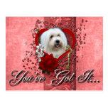 Tarjetas del día de San Valentín - llave a mi cora Postales