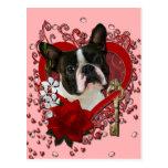 Tarjetas del día de San Valentín - llave a mi cora Tarjeta Postal