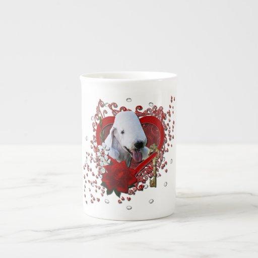 Tarjetas del día de San Valentín - llave a mi cora Taza De Porcelana