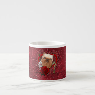 Tarjetas del día de San Valentín - llave a mi cora Taza Espresso