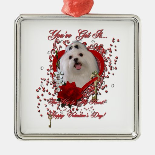 Tarjetas del día de San Valentín - llave a mi Ornamento Para Reyes Magos