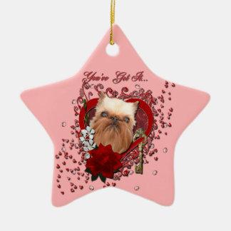 Tarjetas del día de San Valentín - llave a mi Adorno De Cerámica En Forma De Estrella