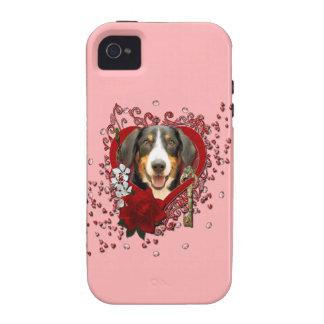 Tarjetas del día de San Valentín - llave a mi Case-Mate iPhone 4 Fundas