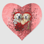 Tarjetas del día de San Valentín - llave a mi Pegatina Corazón