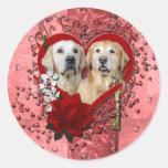 Tarjetas del día de San Valentín - llave a mi Etiqueta Redonda