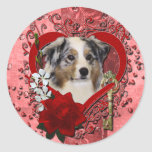 Tarjetas del día de San Valentín - llave a mi Etiquetas Redondas