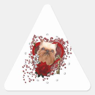 Tarjetas del día de San Valentín - llave a mi Calcomanías Trianguloes