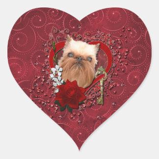 Tarjetas del día de San Valentín - llave a mi Pegatina En Forma De Corazón