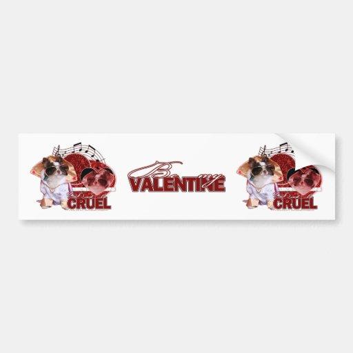 Tarjetas del día de San Valentín - no sea cruel -  Pegatina De Parachoque