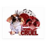 Tarjetas del día de San Valentín - no sea cruel -  Postal