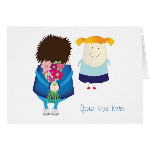 tarjetas del día de San Valentín o tarjeta especia
