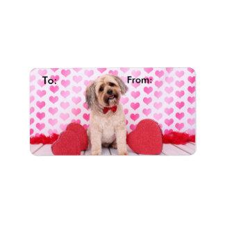 Tarjetas del día de San Valentín - Papkie - Brunso Etiquetas De Dirección