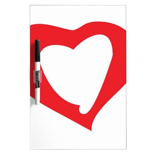 tarjetas del día de San Valentín Pizarras Blancas De Calidad