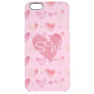 Tarjetas del día de San Valentín rosadas de los Funda Clearly™ Deflector Para iPhone 6 Plus De Unc