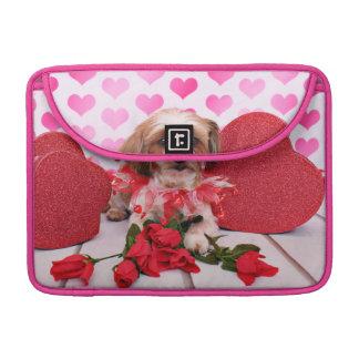 Tarjetas del día de San Valentín - Shorkie - marga Funda Macbook Pro
