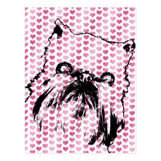 Tarjetas del día de San Valentín - silueta de Brus Postal