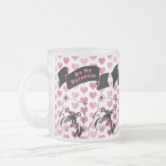 Tarjetas del día de San Valentín - silueta de Brus Tazas De Café