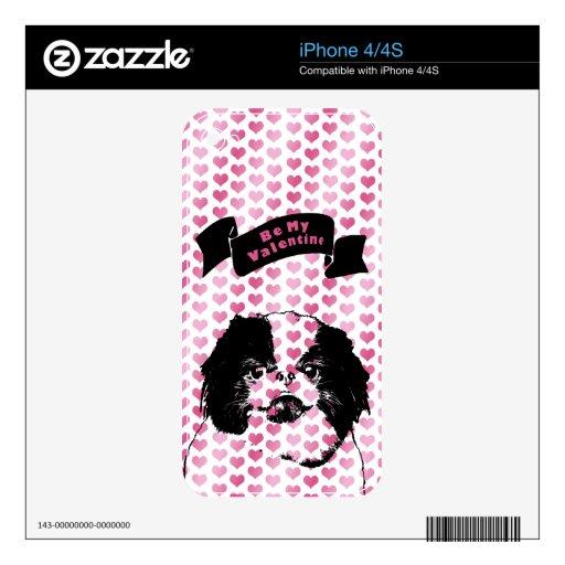 Tarjetas del día de San Valentín - silueta de Chin iPhone 4 Skin