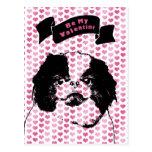 Tarjetas del día de San Valentín - silueta de Chin Postal