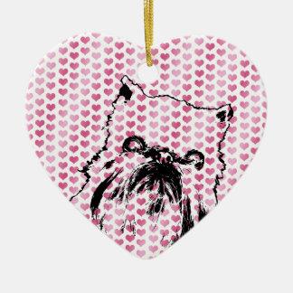 Tarjetas del día de San Valentín - silueta de Adorno De Cerámica En Forma De Corazón