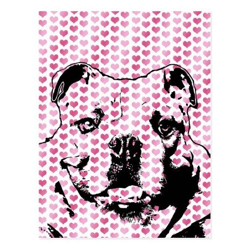 Tarjetas del día de San Valentín - silueta del dog Tarjeta Postal