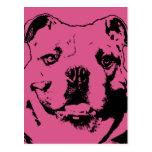 Tarjetas del día de San Valentín - silueta del dog Tarjetas Postales